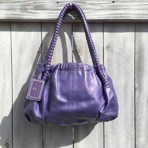Paolo Masi Leather Purpe Shoulder Bag, Medium
